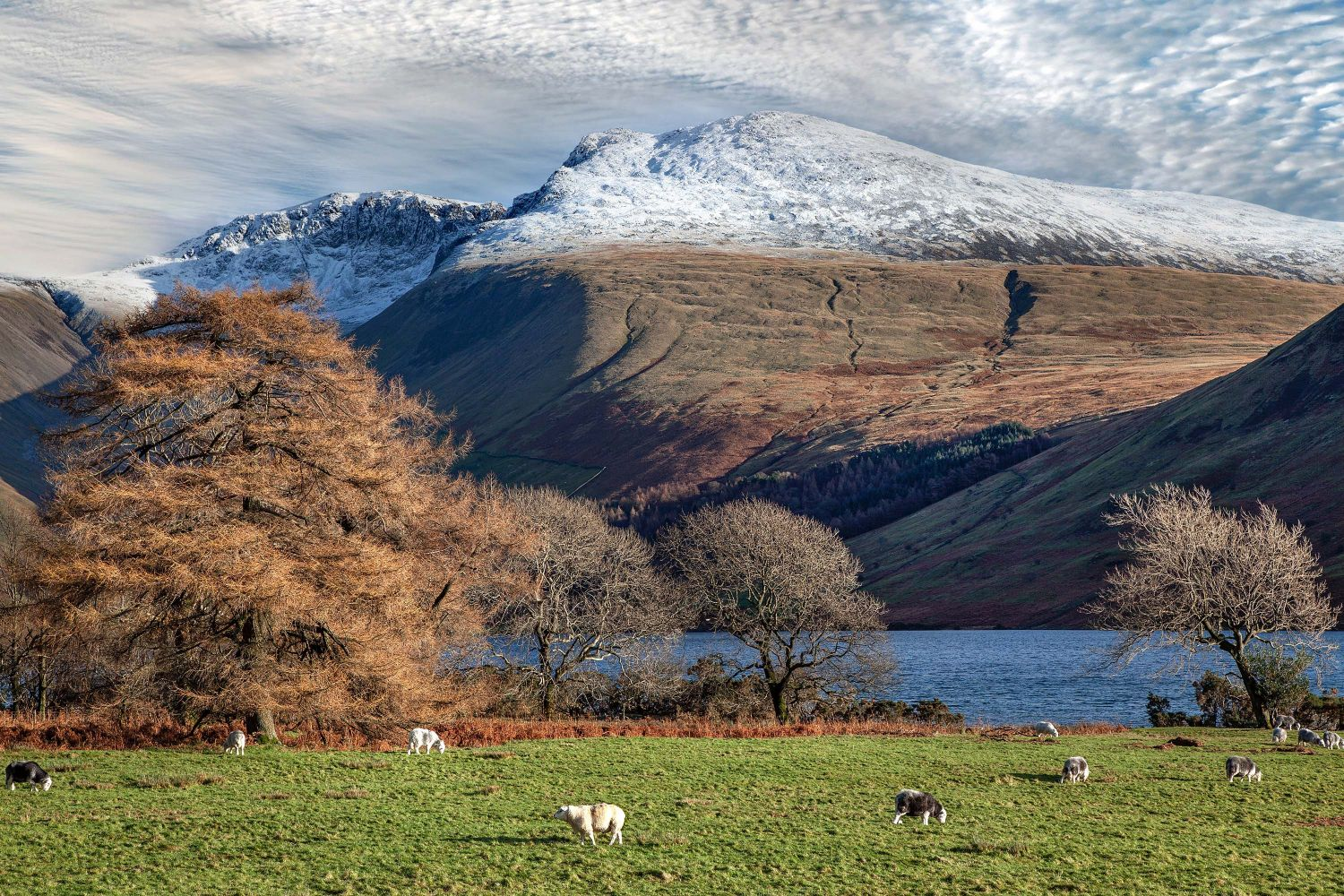 Snow on the Scafell Massif and Lingmell by Martin Lawrence