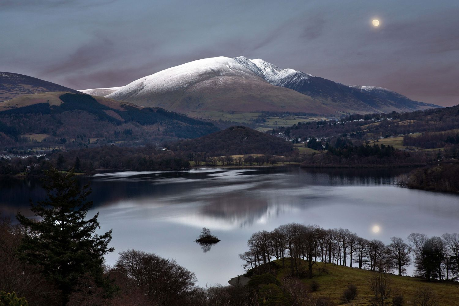 Moonrise over Blencathra - by Martin Lawrence