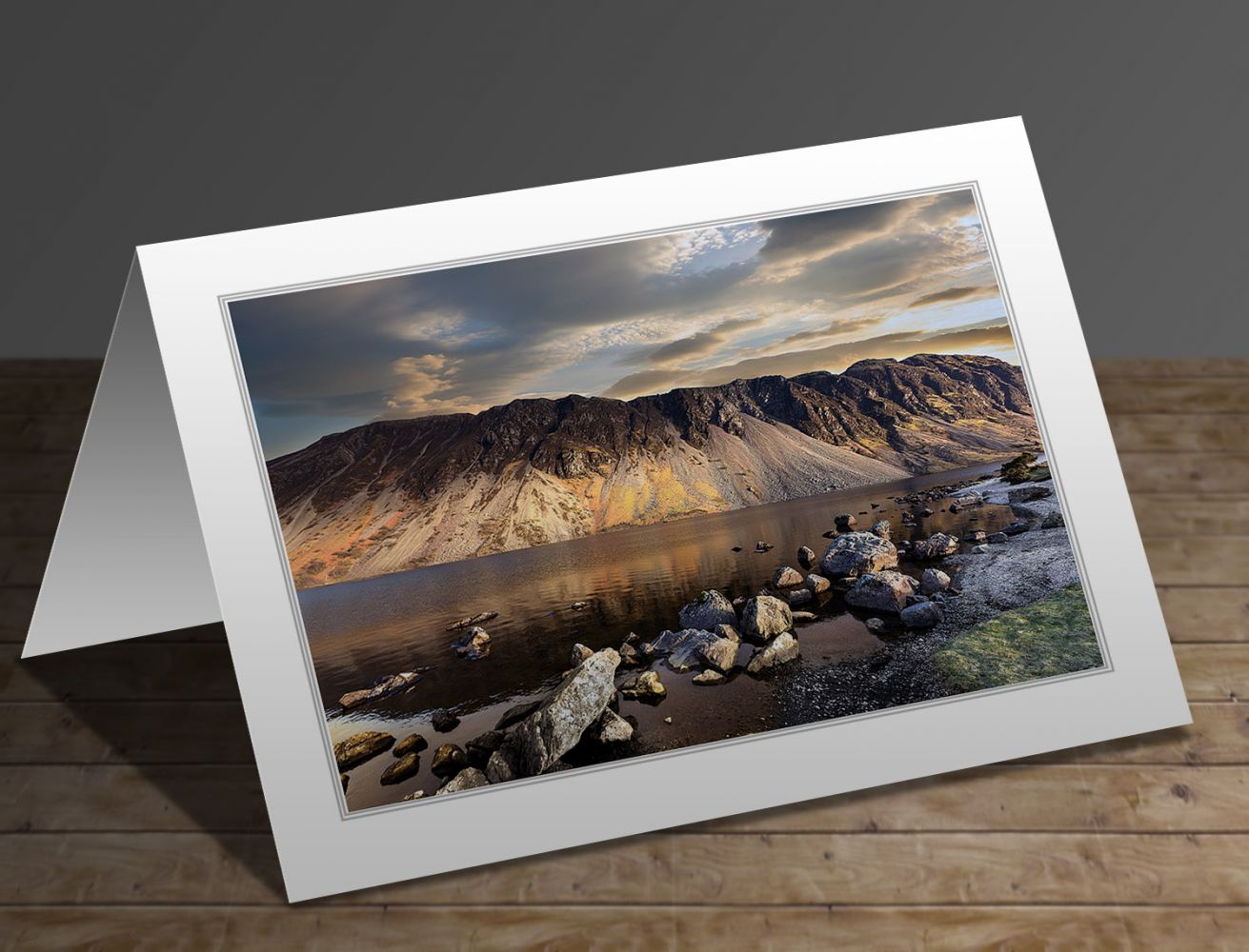 A greetings card containing the image Sunset over the Wastwater Screes by Martin Lawrence