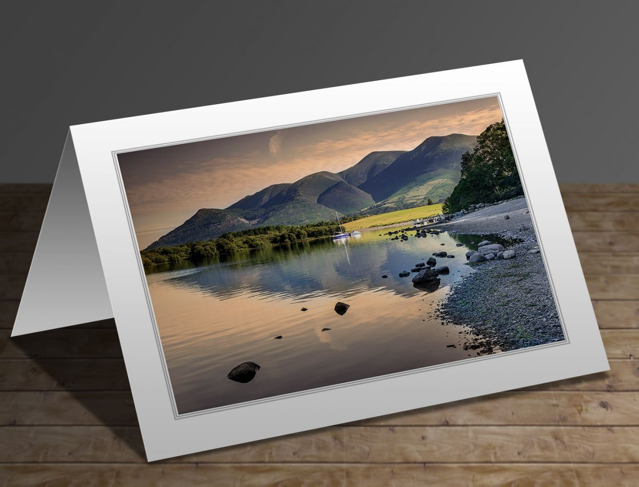 A greetings card containing the image Sunrise over Skiddaw by landscape photographer Martin Lawrence