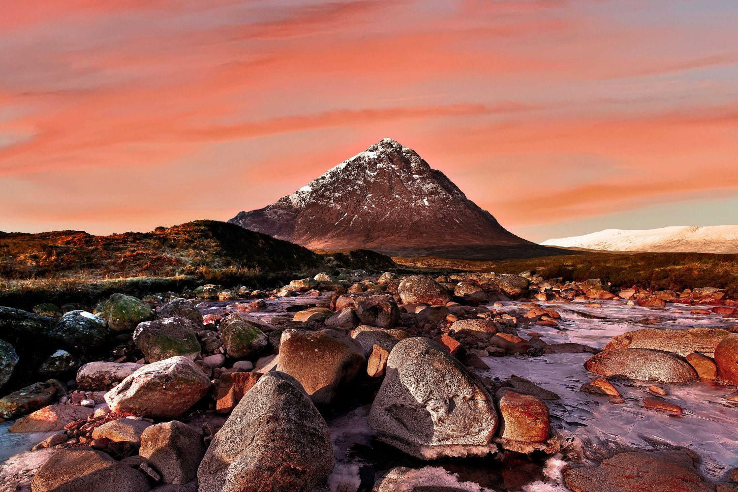 Buachaille Etive Mor at sunset by Martin Lawrence