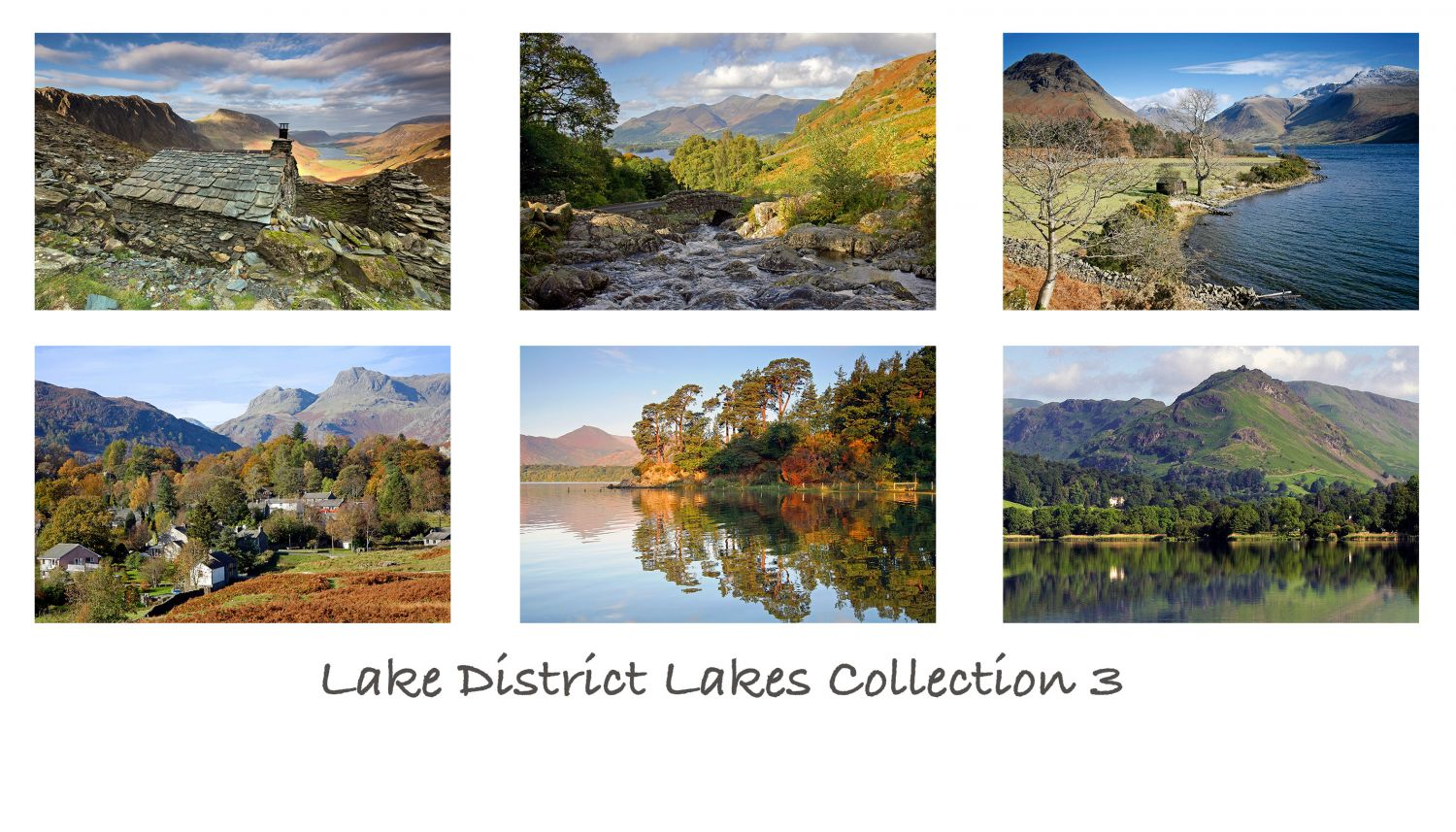 A pack of 6 Lake District Greeting cards featuring stunningimages of the beautifulEnglishLake District.