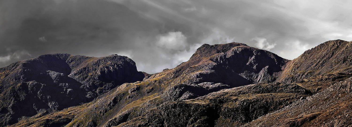 Rays of light on Scafell Pike by Martin Lawrence
