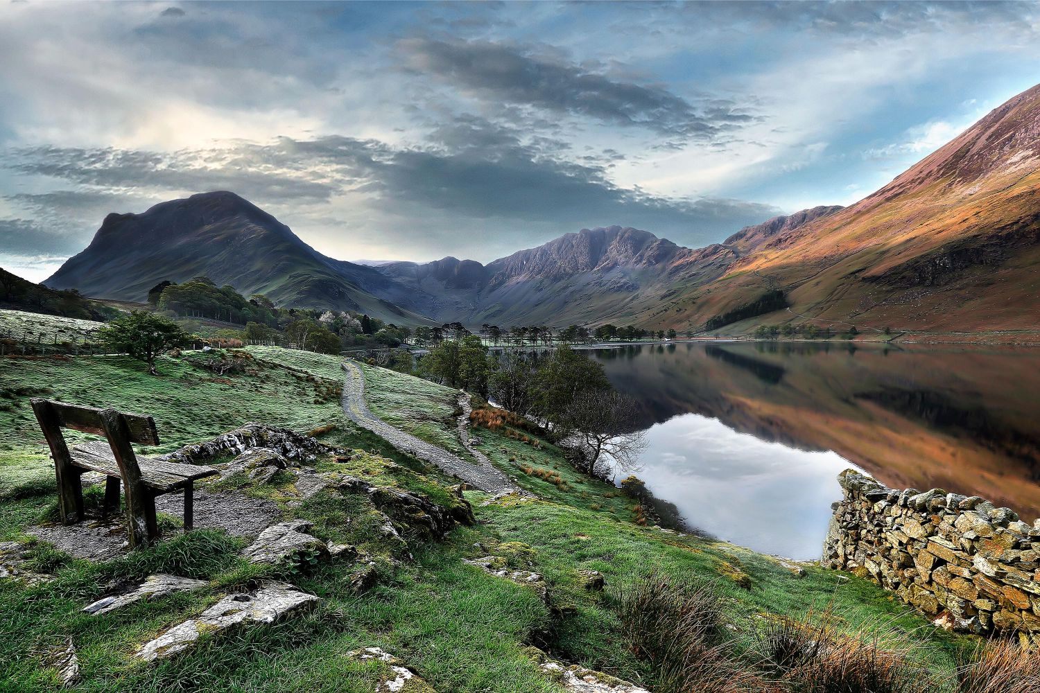 Dawn breaks over Buttermere - by Martin Lawrence