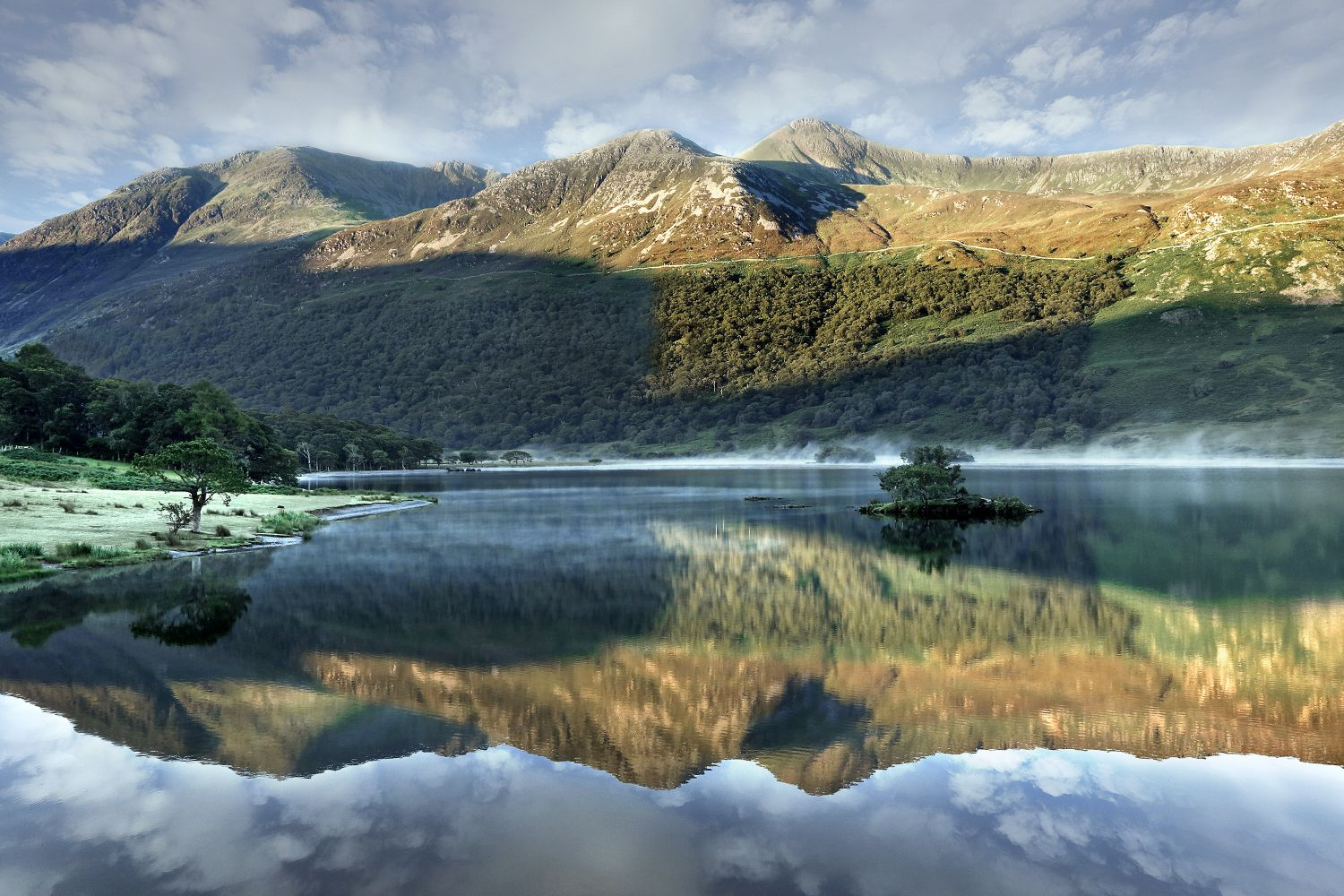 Early Morning Mist over Crummock Water by Martin Lawrence