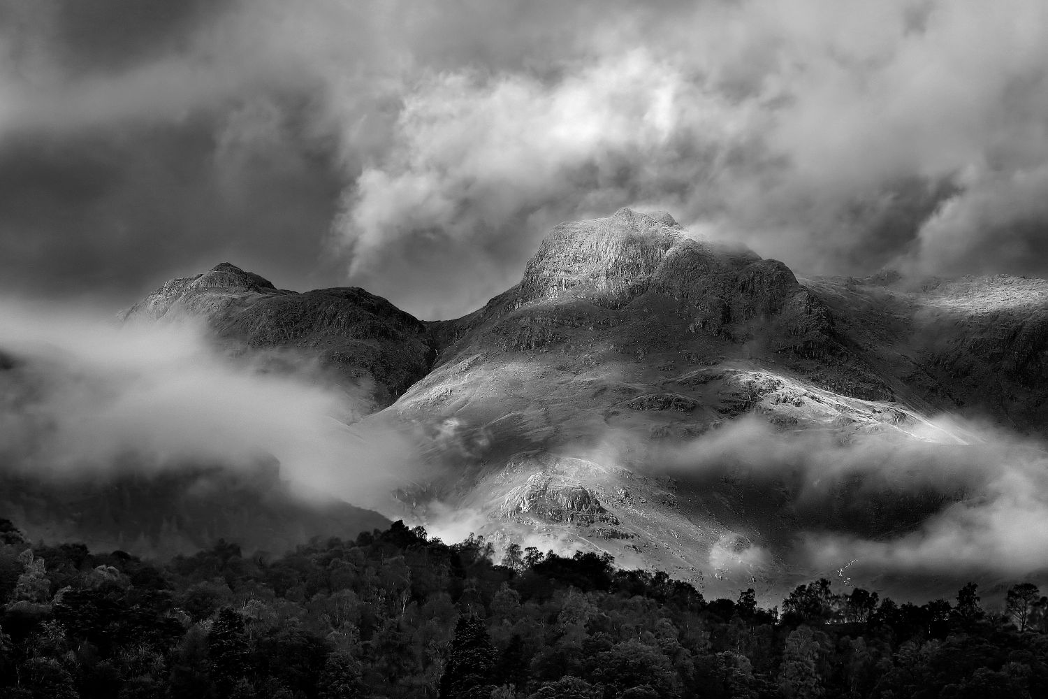 Harrison Stickle and Loft Crag in the Langdales by Martin Lawrence