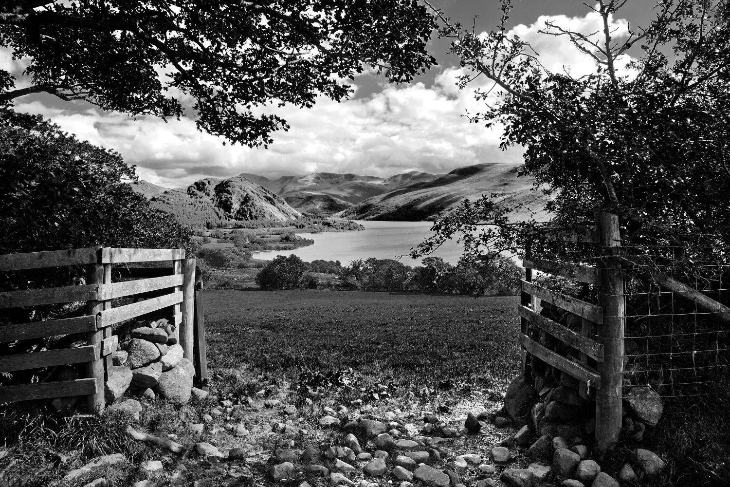 Through the Gates to Ennerdale in Black and White
