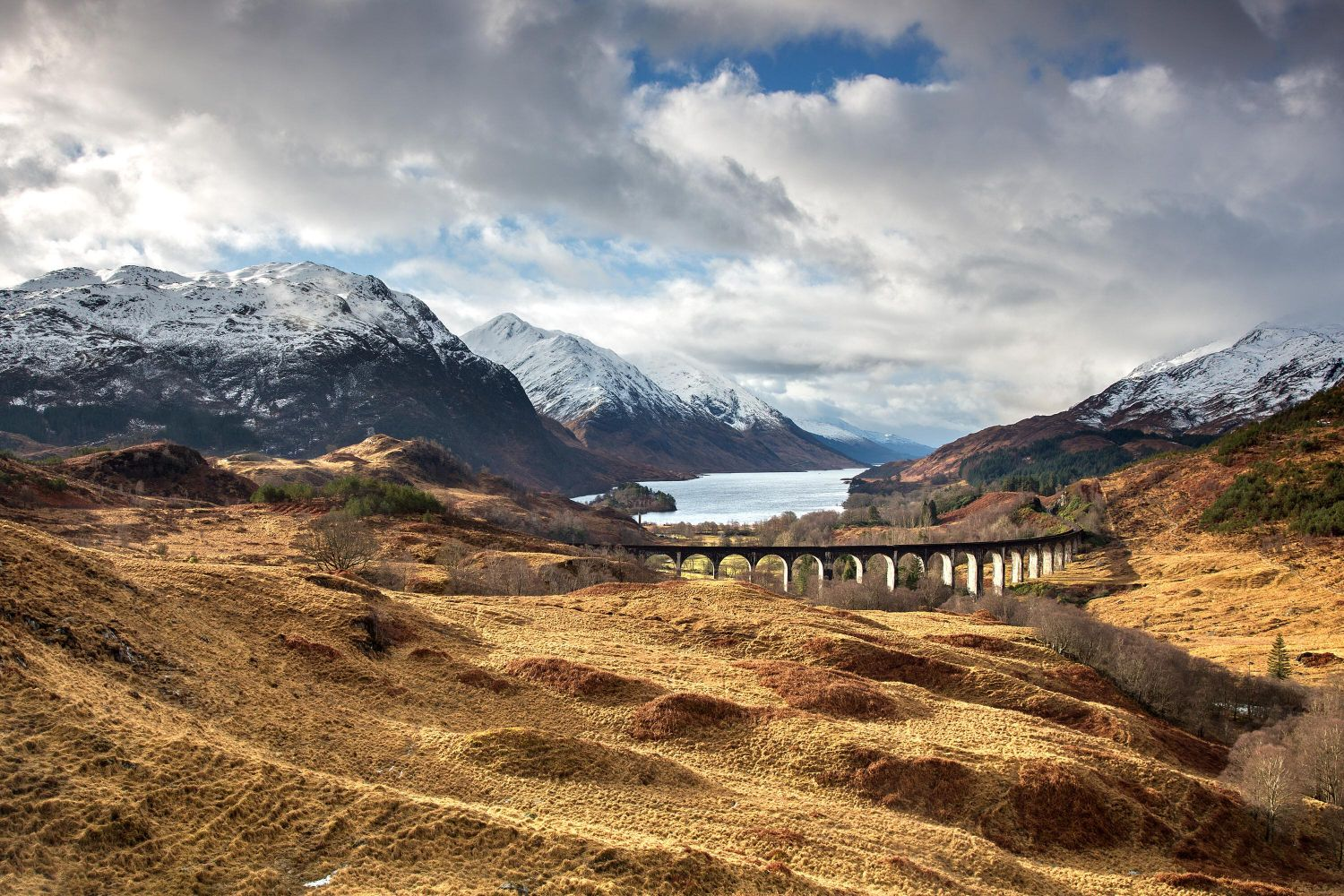 TheGlenfinnan Viaduct and Loch Shiel made famous in the Harry Potter films.