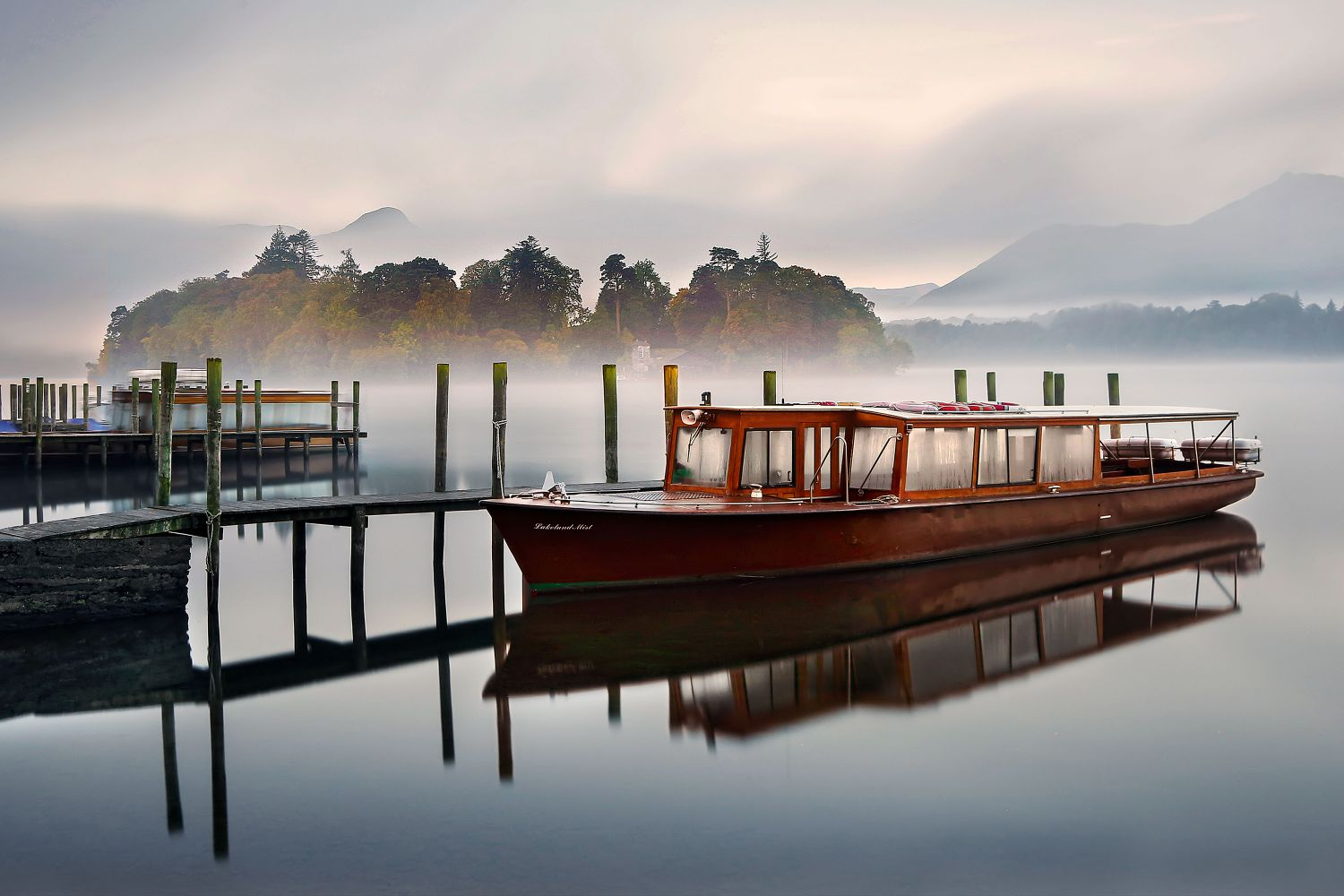 Autumnal Mists at Derwentwater by Martin Lawrence