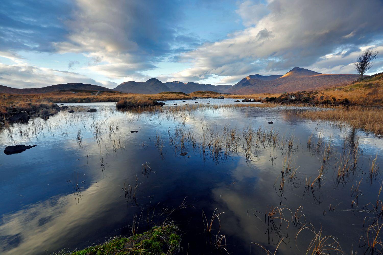 Loch Buide on Rannoch Moor near Glencoe