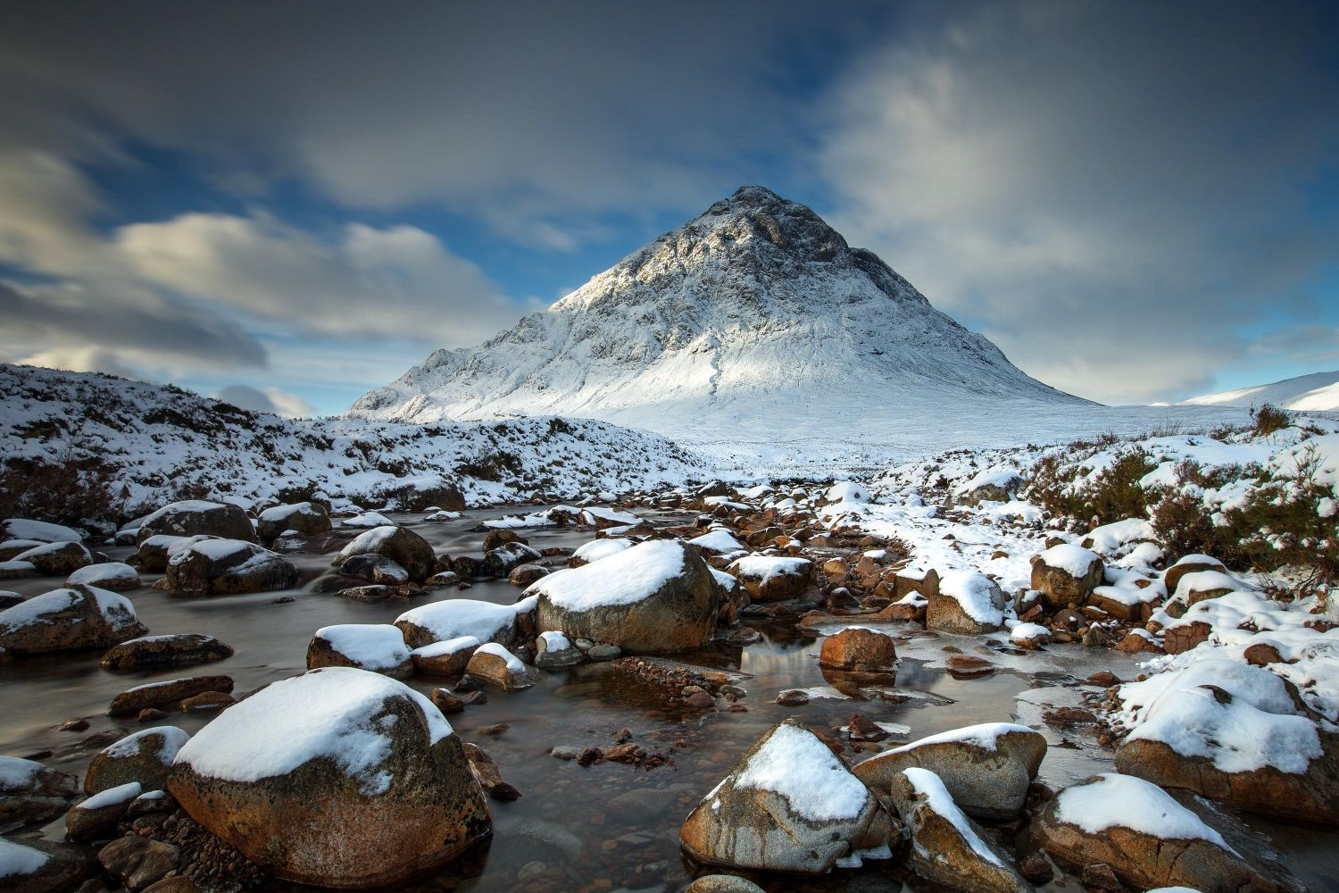 Buachaille Etive Mor and a frozen River Coupall