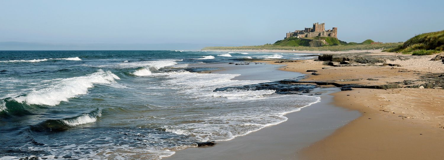 Bamburgh Castle and Beach, Northumberland