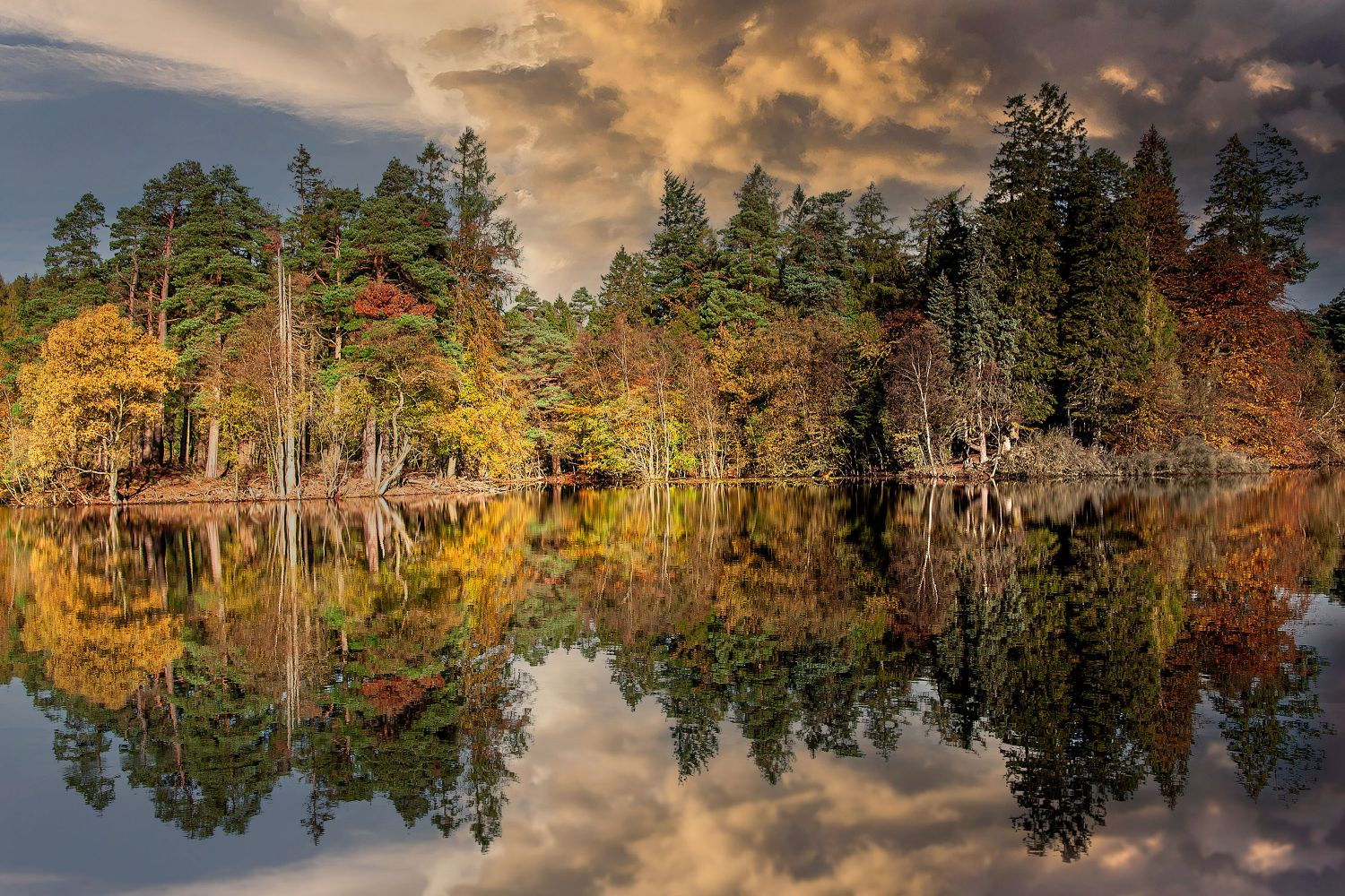 Tarn Hows under Stormy Skies by Martin Lawrence