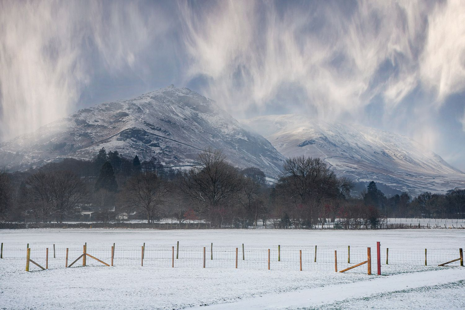 Snow showers over Helm Crag by Martin Lawrence