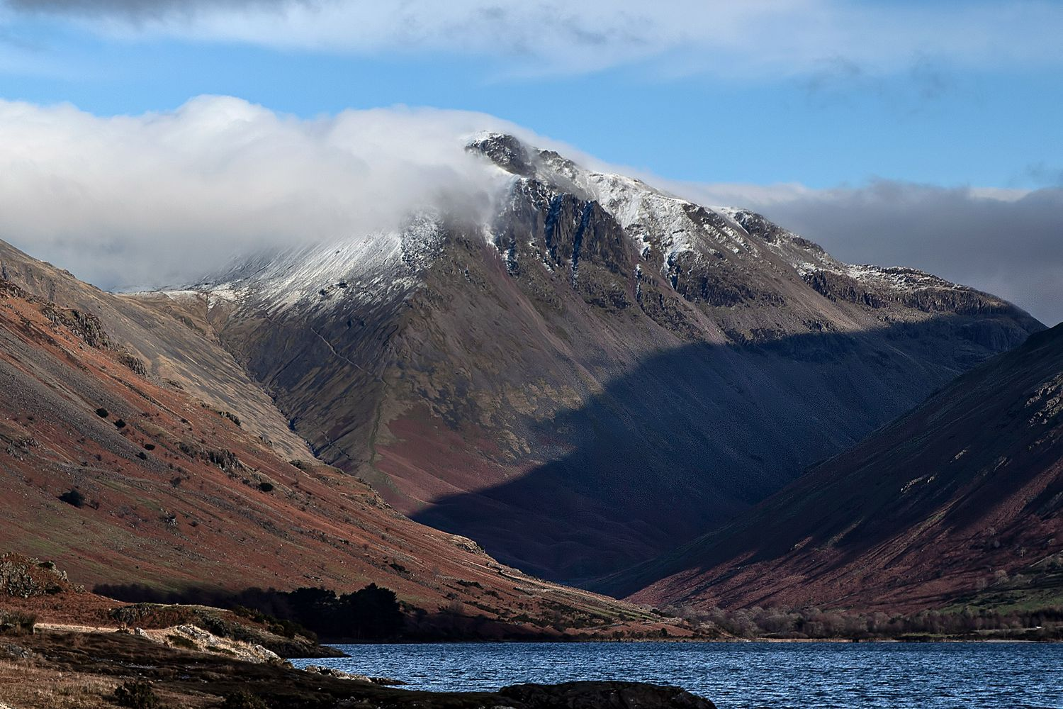 Snow covered summit of Great Gable by Martin Lawrence