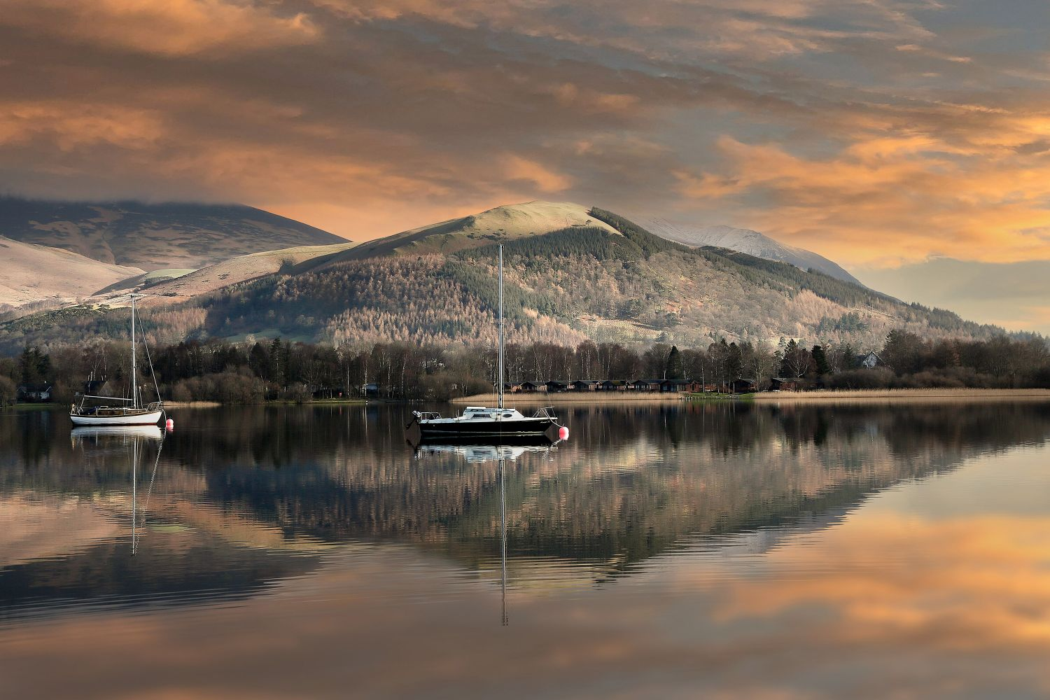 Sunrise over Latrigg from Portinscale by Martin Lawrence