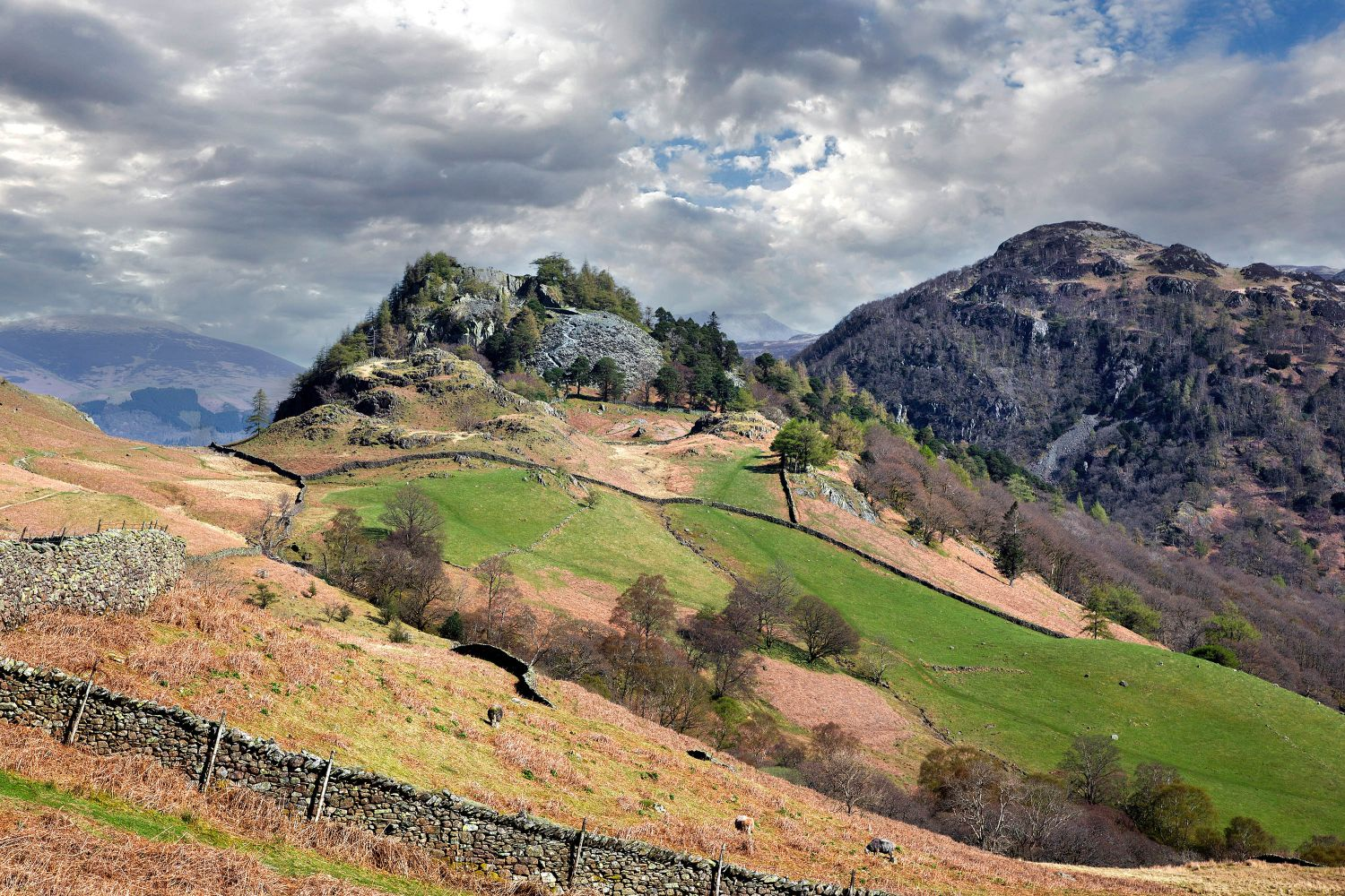 Castle Crag and Kings How by Martin Lawrence
