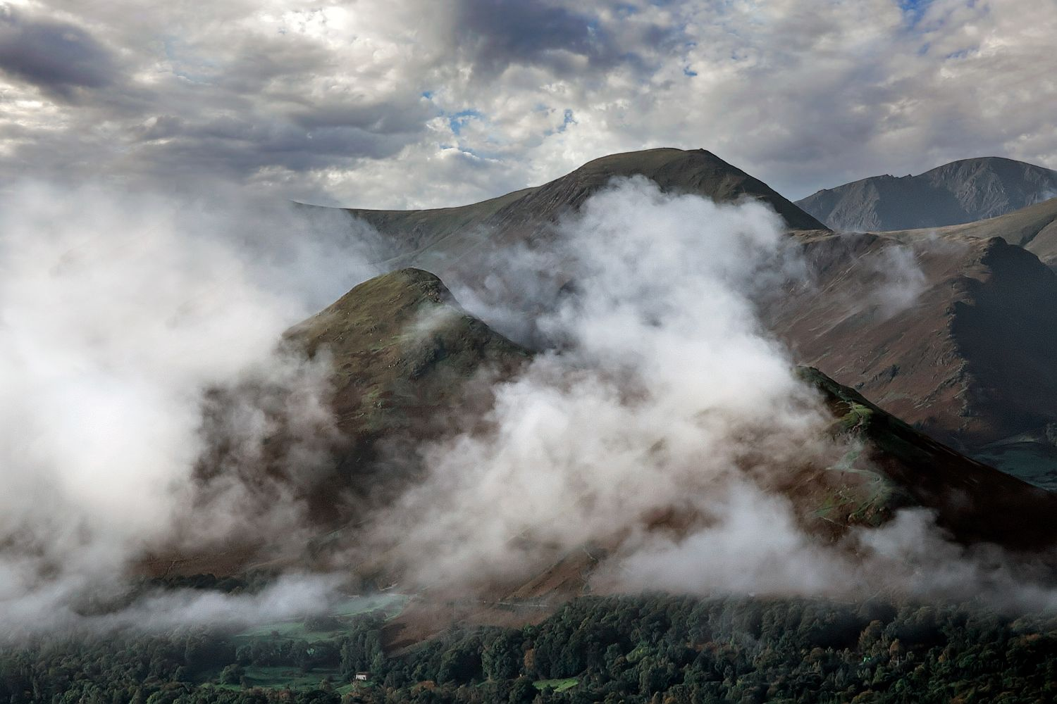 Catbells in the clouds by Martin Lawrence