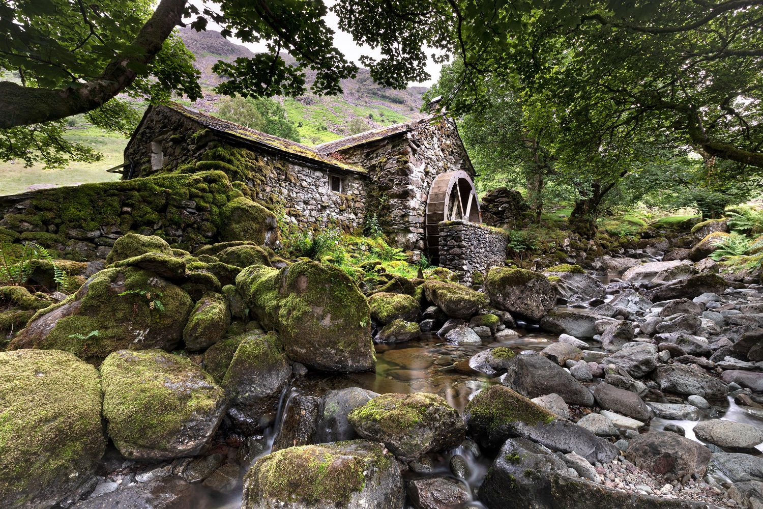 The Old Borrowdale Mill near Derwentwater by Martin Lawrence