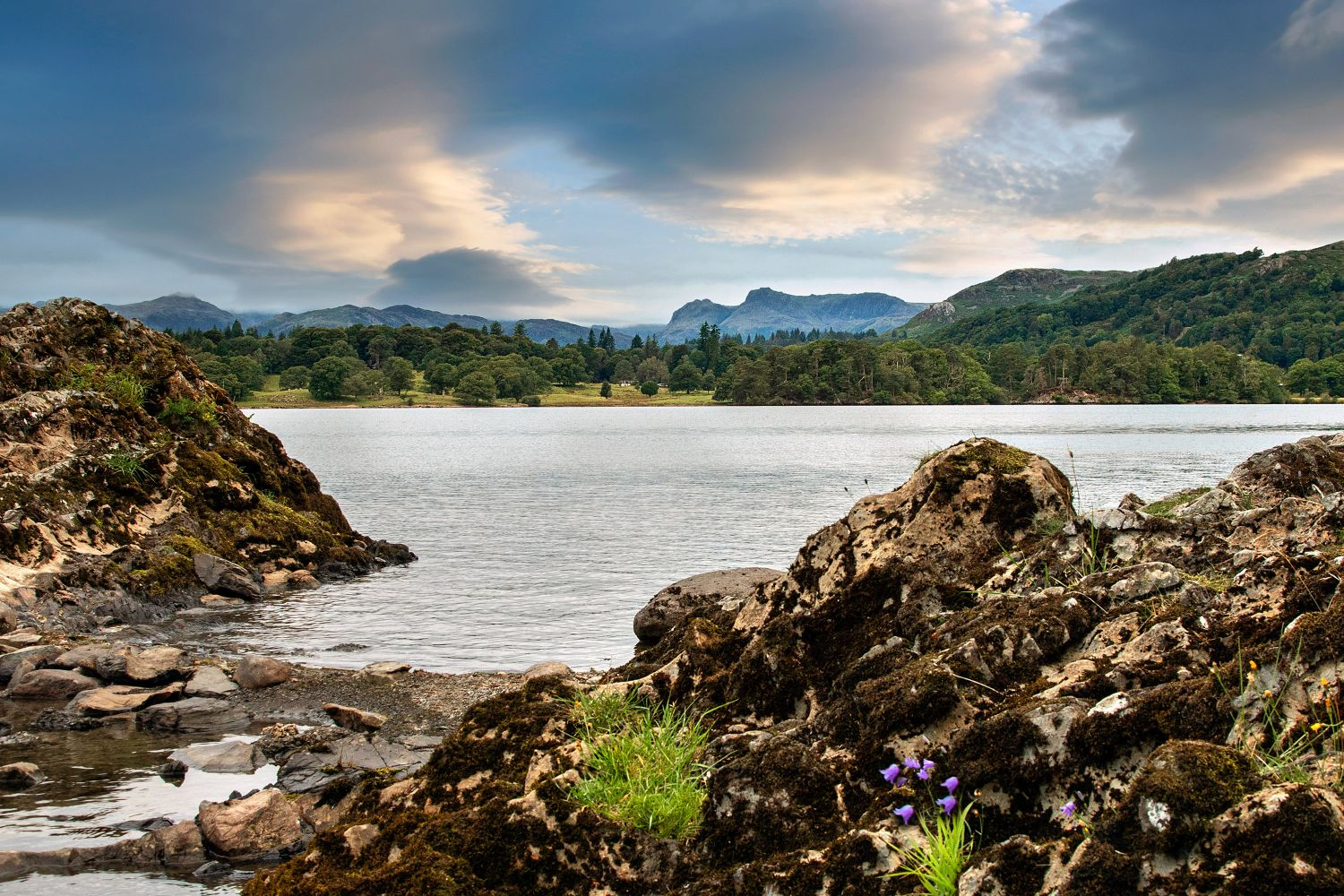 The Langdales from Lake Windermere by Martin Lawrence