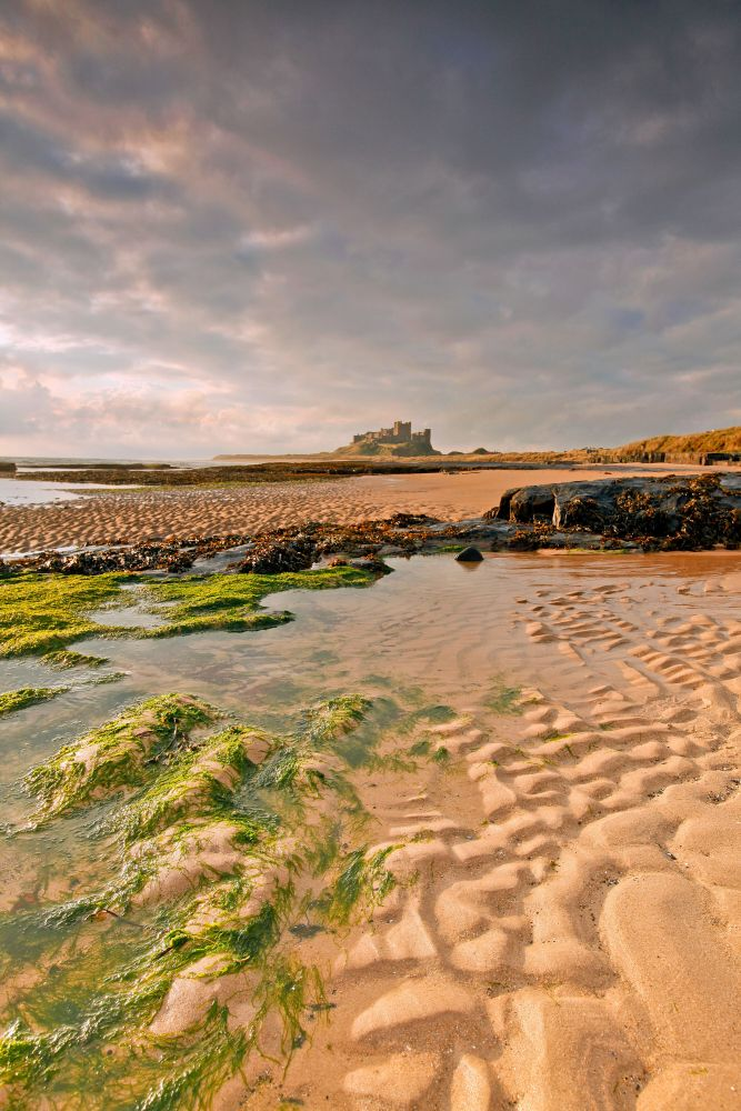 First light on Bamburgh Castle, Northumberland