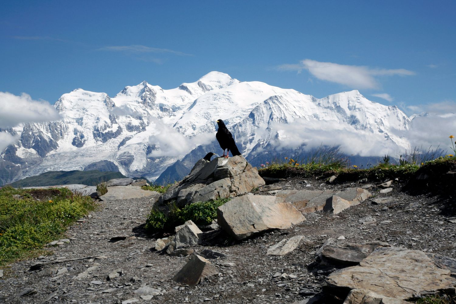 Pointe de Sales overlooking Mont Blanc