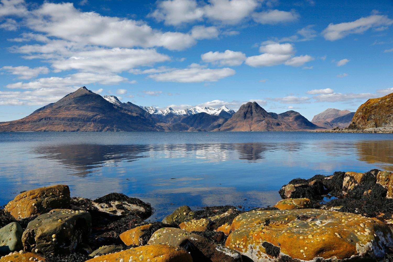 Across Loch Scavaig to the Black Cuillin mountains from Elgol