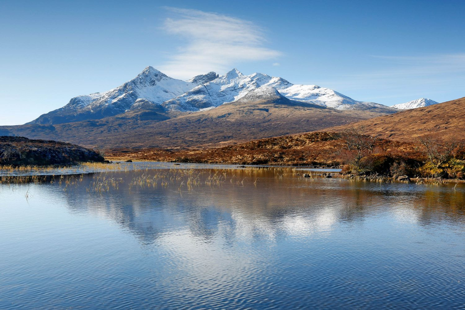 Black Cuillin reflections from Sligachan