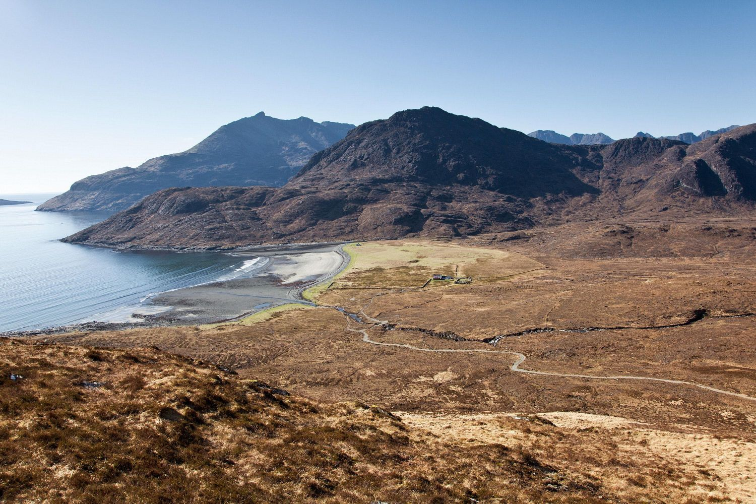 Camasunary Bay and Sgurr Na Stri from Am Mam Pass