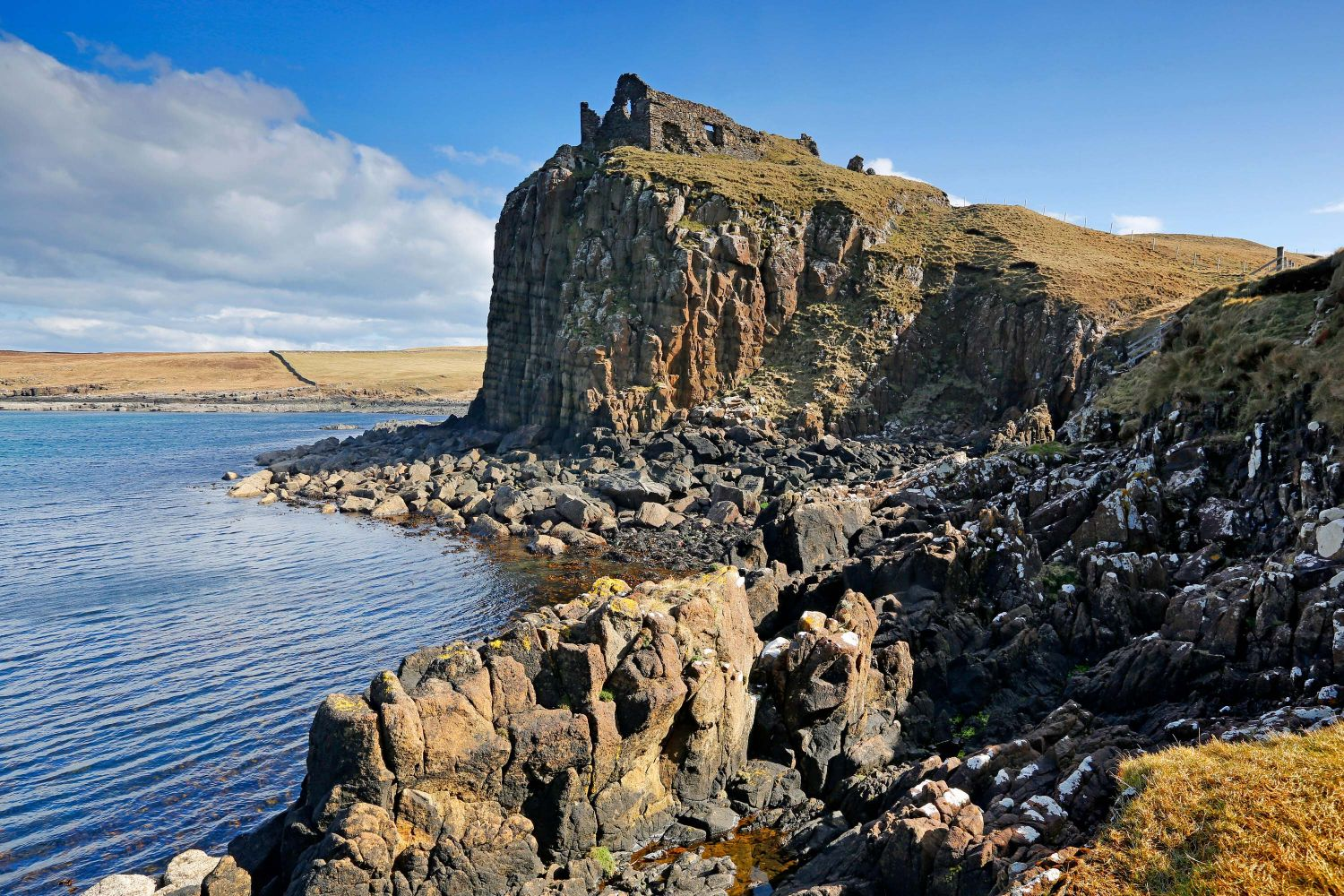 Duntulm Castle at the north end of the Trotternish Peninsula