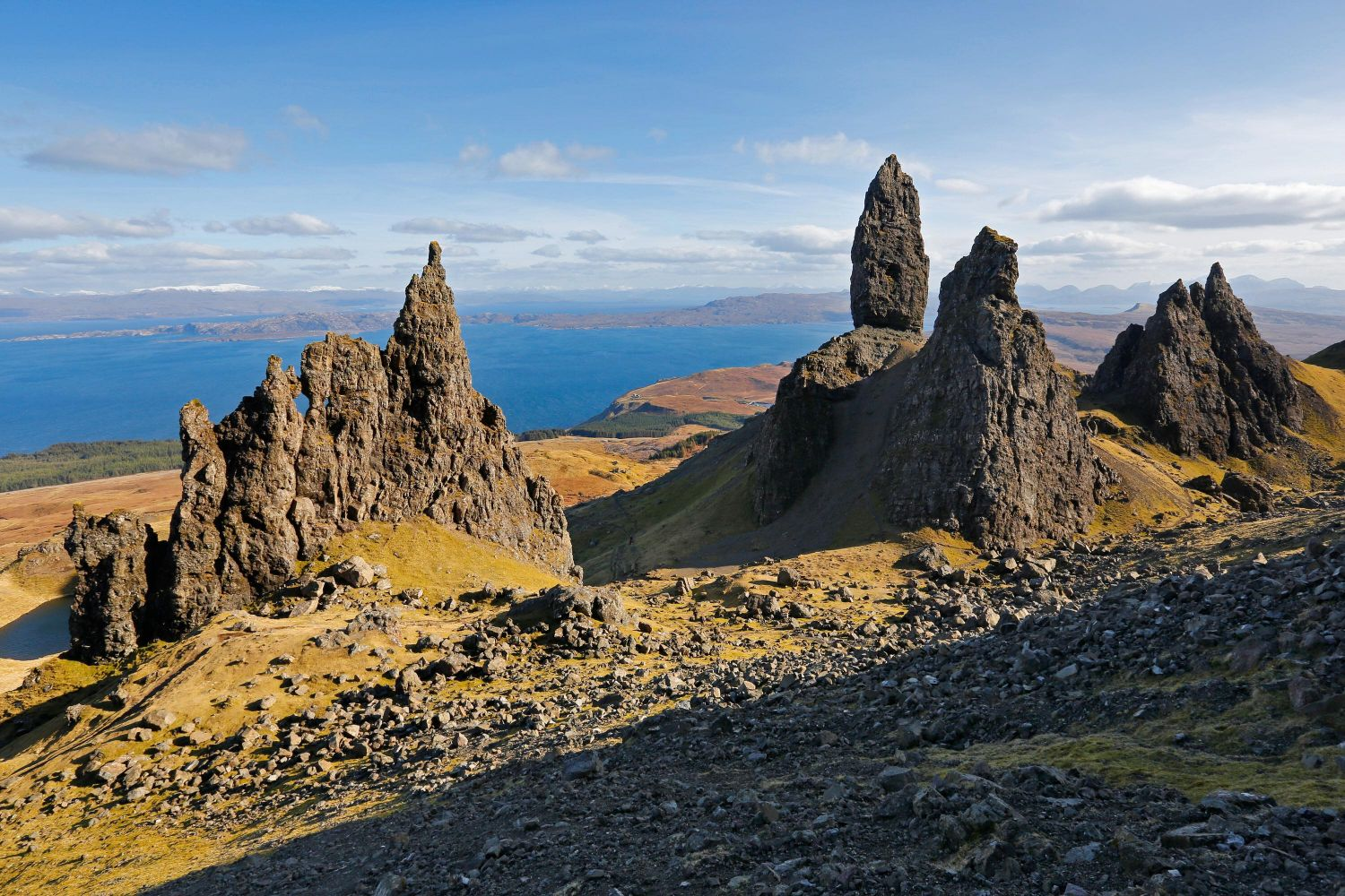 Sunshine on The Storr on the Isle of Skye