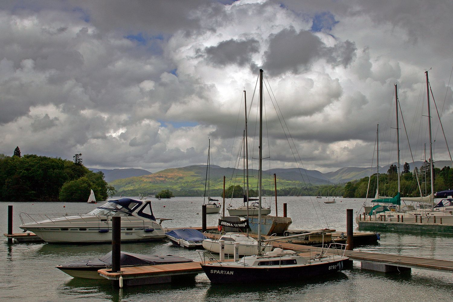 Approaching storm over Bowness Bay Marina