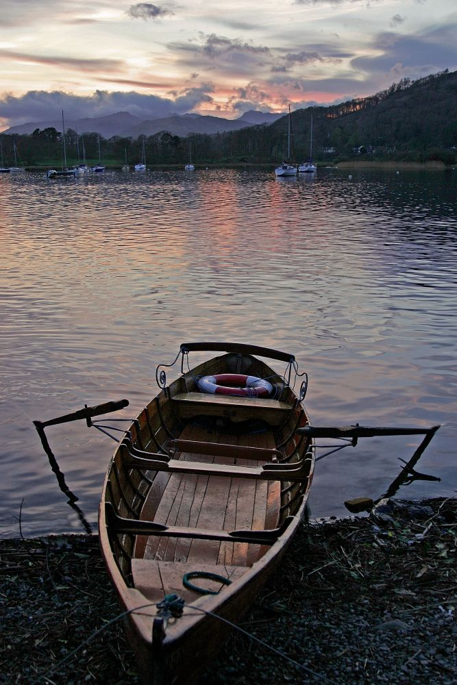 Sunset at Waterhead, Windermere