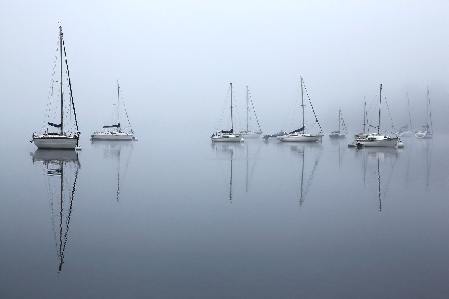 Morning mists over Windermere