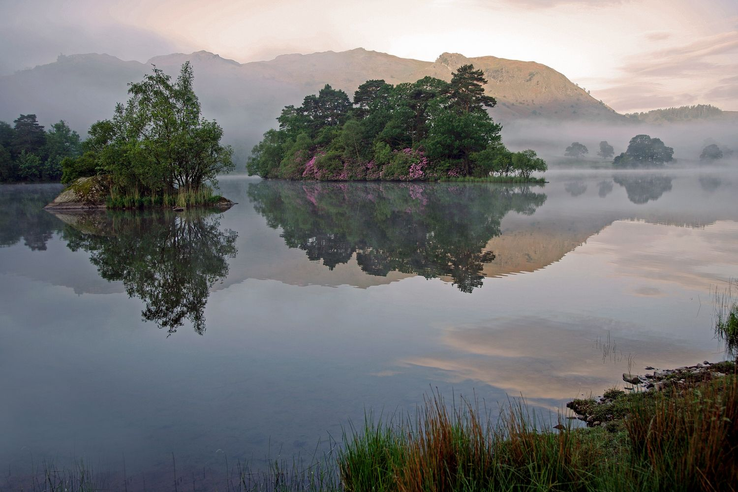 Dawn mist at Rydal Water