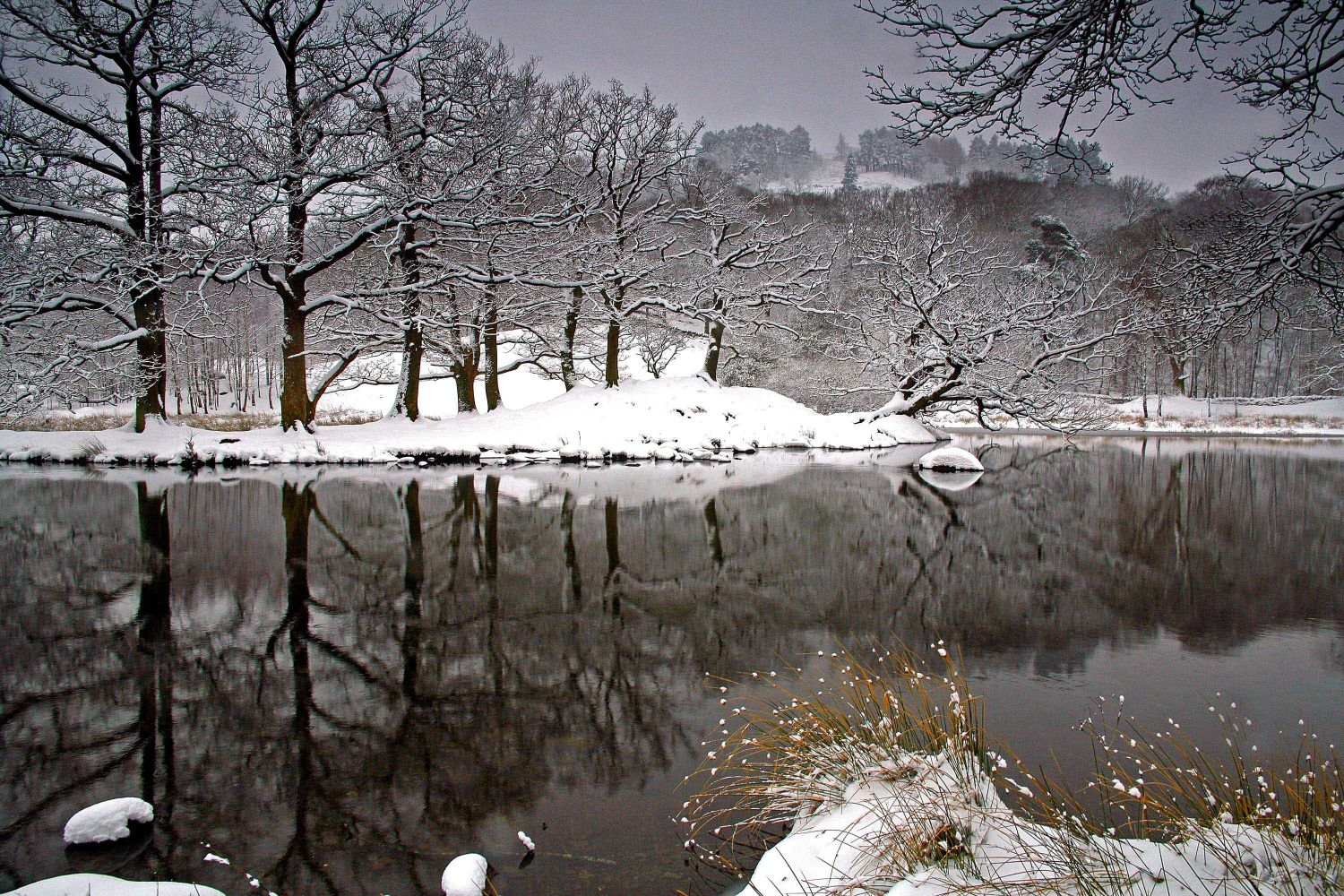 Spring Snow at Rydal Water