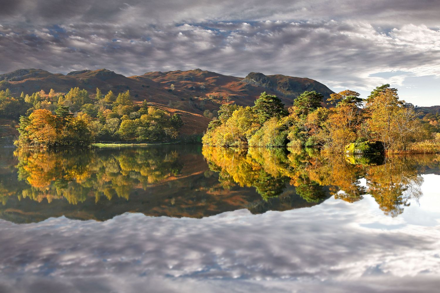 Autumns Early light on Rydal Water by Martin Lawrence