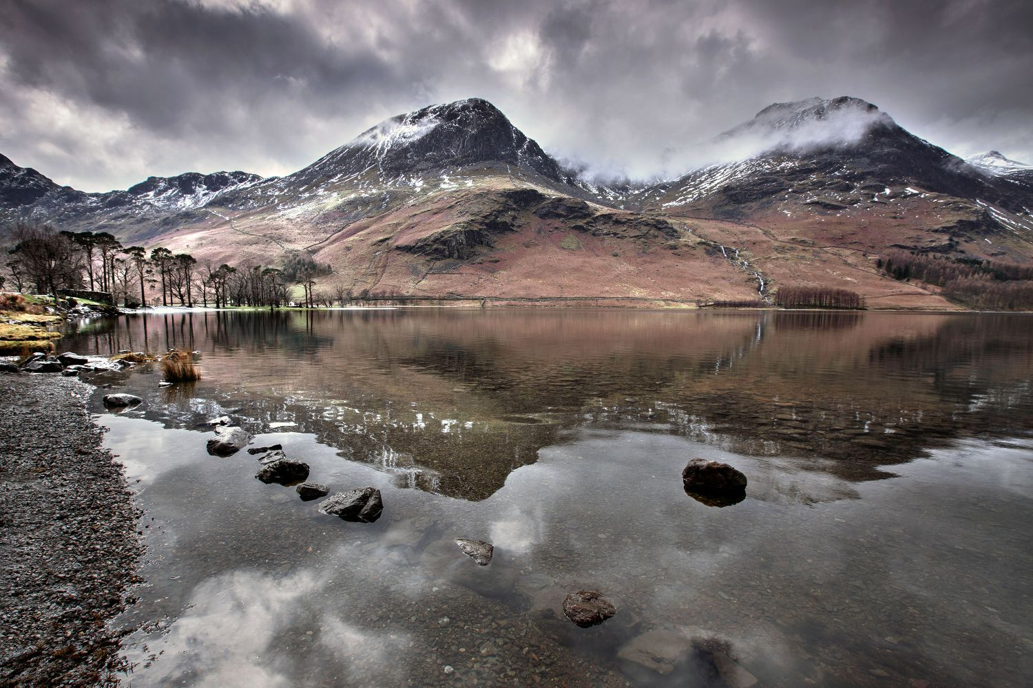 Melting snow on High Crag above Buttermere