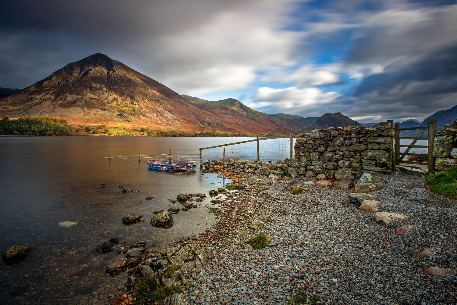 Last light over Crummock Water and Rannerdale Knotts