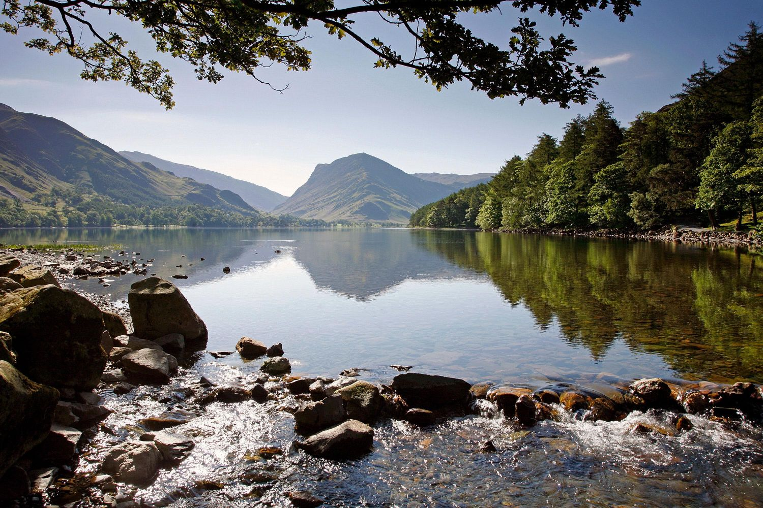 A view of Fleetwith Pike and Buttermere