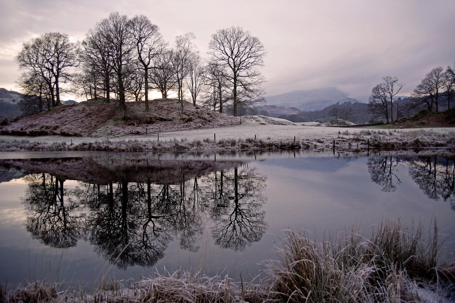 River Brathay near Elterwater on a still and frosty evening