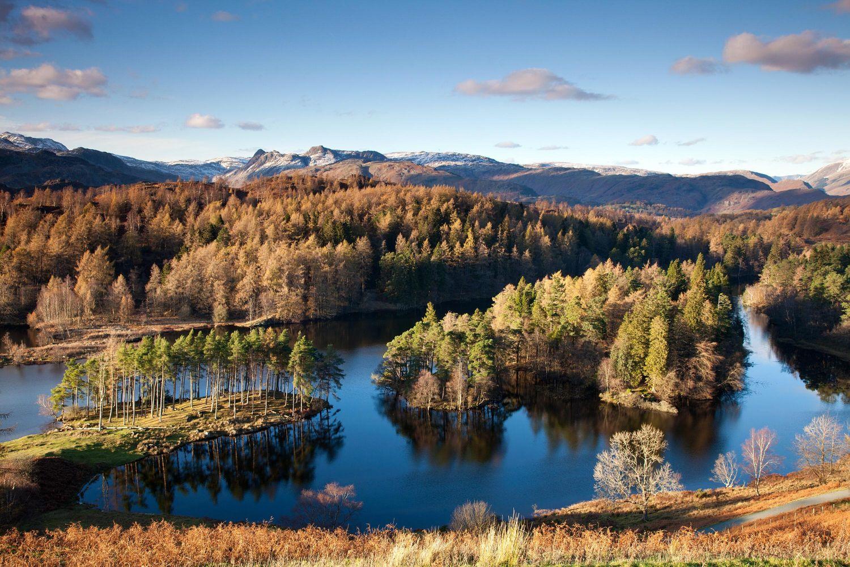 Tarn Hows in autumn sunshine