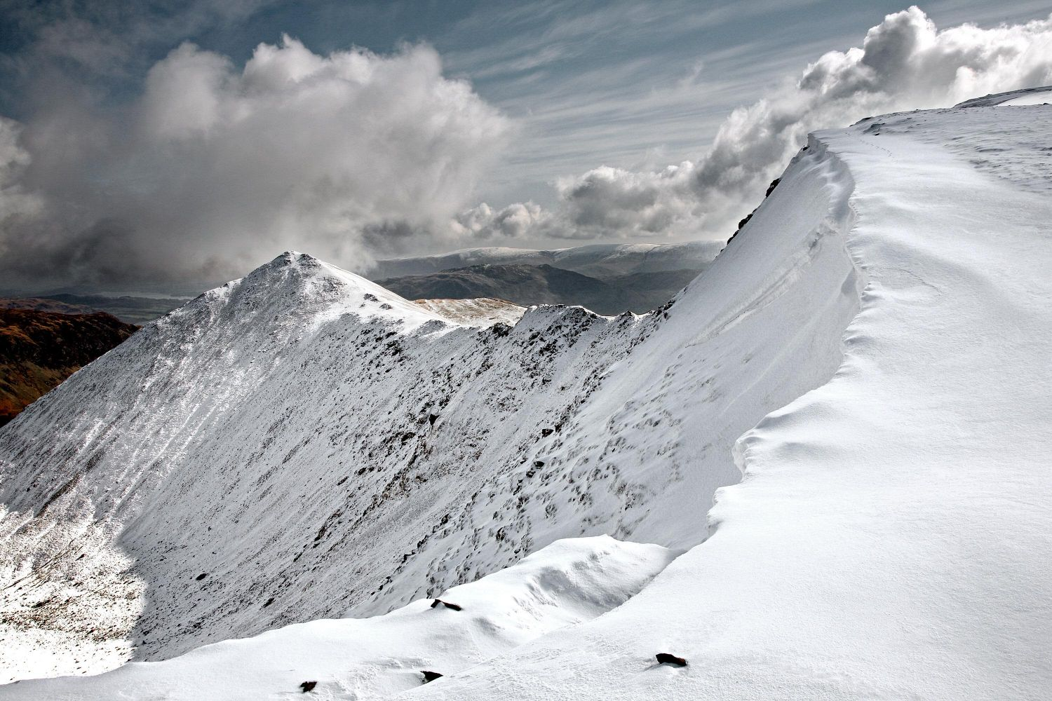 Swirral Edge from the approach to Helvellyn