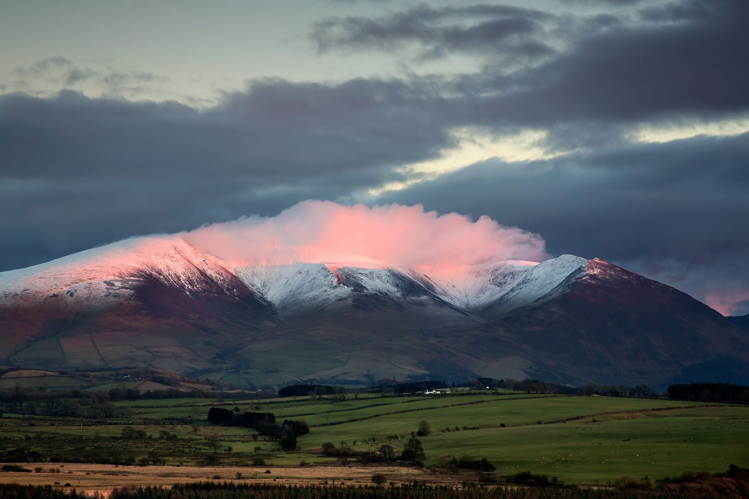 Alpenglow over Skiddaw