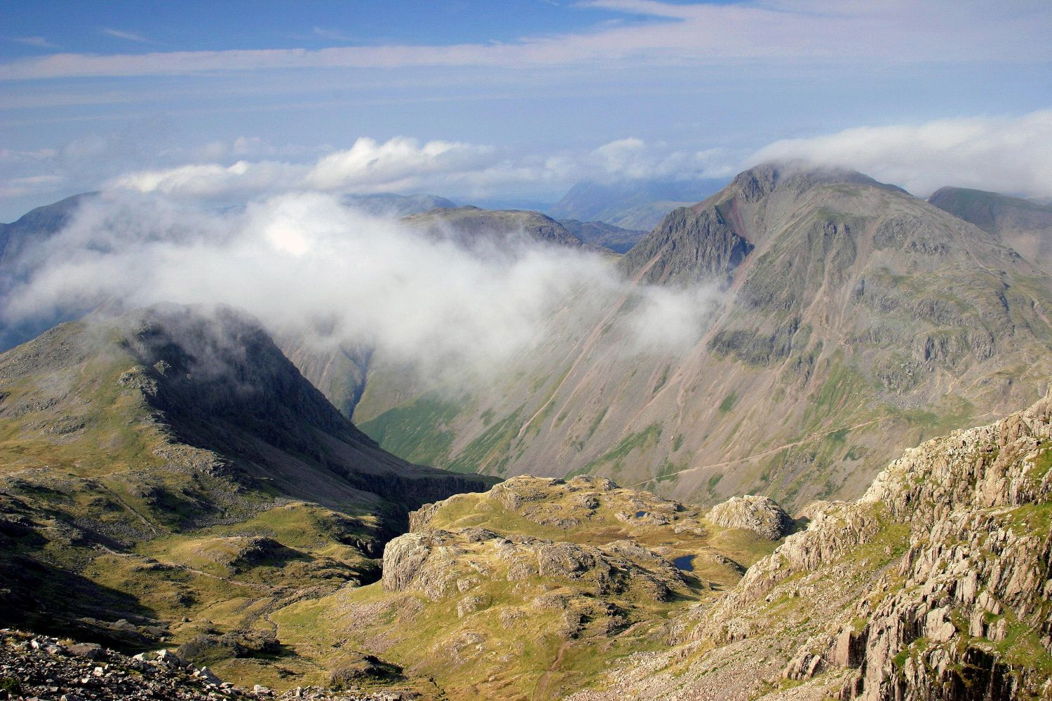 Great Gable and Kirk Fell from the Corridor Route