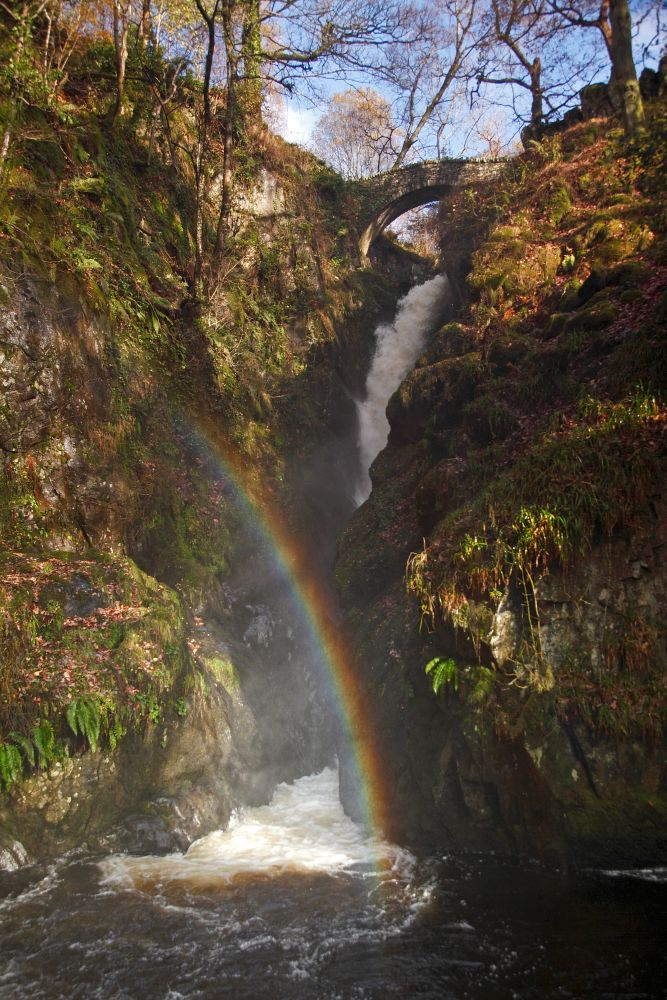 Rainbow in the mist at Aira Force
