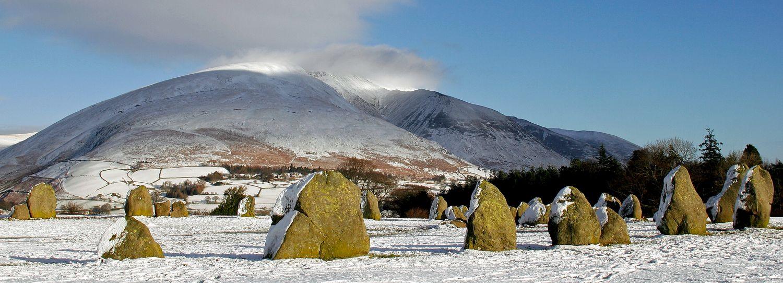 Boxing Day snow at Castlerigg Stone Circle