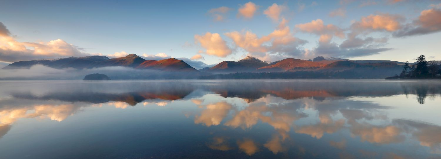 Mist over Derwentwater and the Newlands Fells