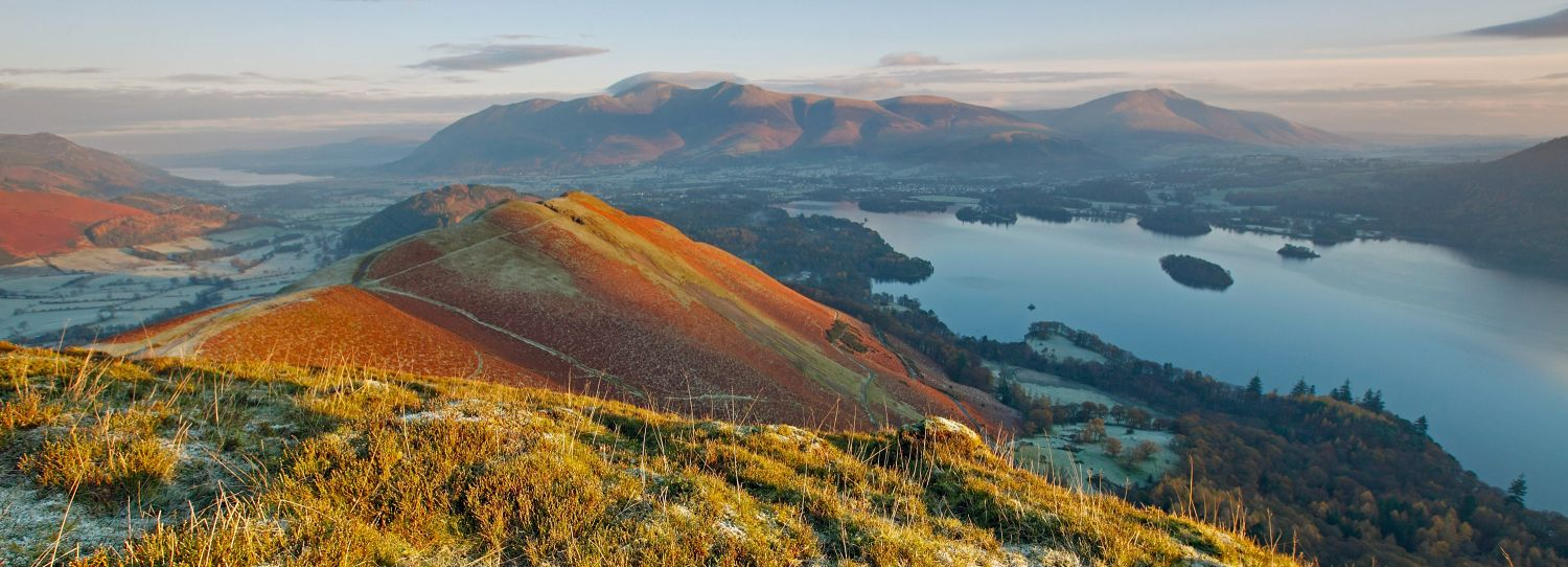 Catbells bathed in early morning light