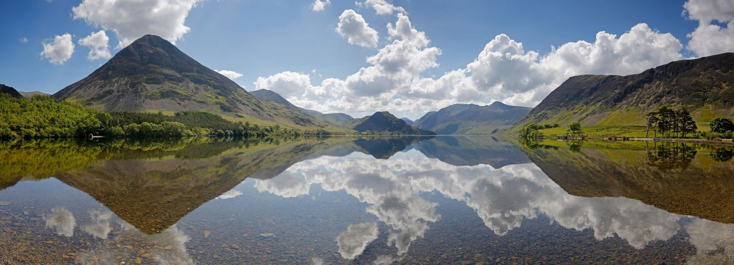 Cloud reflections at Crummock Water